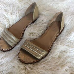 J. Crew Gold Sandal Size 7.5